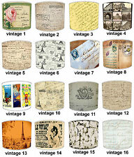 Vintage French Script Postcards Posters Ceiling Light Shades Or Table Lampshades