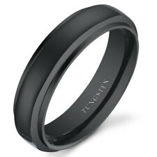 Unisex Rounded Top Tungsten Wedding Band Ring Available in Sizes 5 to 13