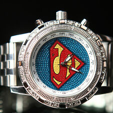 Fashion Boy Girl Lady Oversized Super Man Sports Quartz Wrist Watch 2 Color New
