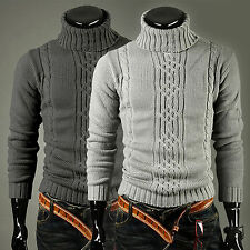 Men's wool Knit Wear tops Thicken sweaters cardigan Turtle Neck Jumpers Pullover