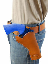 """NEW Barsony Tan Leather Cross Draw Gun Holster for Smith & Wesson 4"""" Revolvers"""