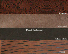"FAUX LEATHER Vinyl Fabric EMBOSSED TOOLED Vinyl 54"" Wide Sold By the Yard"