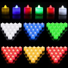 2 12 24 PCS Electronic LED Candle Party Beautiful Flameless Flickering Tea Light