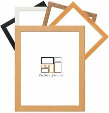 Flat Picture Frame Photo Frame Black Beech Pine Silver Oak White Poster Frame