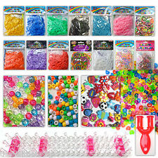 Loom bands weaving boards tools c clips charms beads fishtail 300 600 UV
