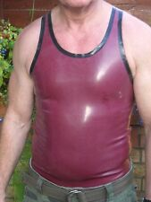 Rubber/latex/gummi vest/tank top, gay interest, choice of colours/sizes