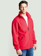 Personalised - Printed Fleece Jacket -Embroidered  Company Name or Text - 5 Col