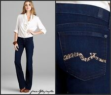 $215 NWT New 7 for All Mankind BOOTCUT Rustic Canyon CRYSTALS Cheetah Jeans