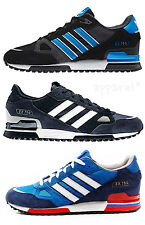 ADIDAS ZX 750 MENS ORIGINALS TRAINERS NAVY ROYAL WHITE SHOE SIZES 7 - 11 ZX750