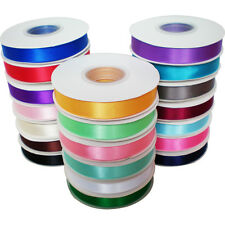 """25 M X 15mm(5/8"""") Satin Ribbon Reel Full Double Sided Faced Crafts Satin Roll"""