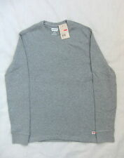NEW LEVIS CLOUDY DAY GREY MARL RUGGED CREW NECK SWEATSHIRT  BNWT