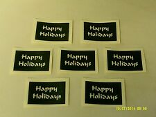 10 - 400 Happy Holiday words stencils for etching on glass Christmas hobby craft