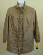 Versatile Color! STYLE & CO Beige Jacket Taupe Ruffle Plus NWT 16W 18W
