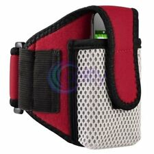 Red Mesh Armband Sportband Pouch Case Bag For Apple iPhone iPod Microsoft Zune