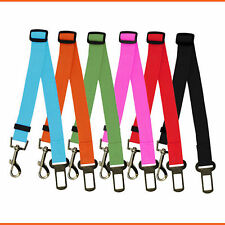 Dog Pet Car Safety Seat Belt Adjustable Nylon Harness Restraint Lead Travel Clip