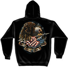 """THESE COLORS DON'T RUN"" AMERICAN EAGLE - HOODED HOODIE SWEATSHIRT-"