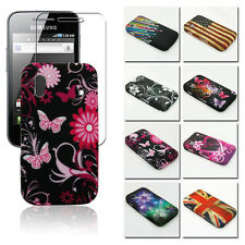 Pictorial Pattern TPU GEL Case Cover w/SP for Samsung Galaxy Ace S5830, S5830i