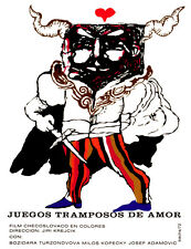 4595.Juegos trampos de amor.man.horns.movie.POSTER.Decoration.Fine Graphic Art