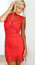 Stunning red lace dress with SHEER BODICE BNWT Perfect cocktail party dress