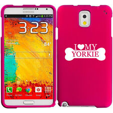 For Samsung Galaxy Note 2 3 4 Rubber Hard Case Cover I Love My Yorkie