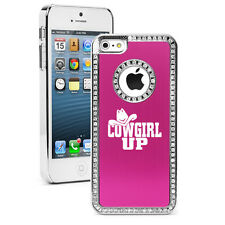 For iPhone 4 4s 5 5s 5c 6 6 Plus Rhinestone Crystal Bling Case Cover Cowgirl Up