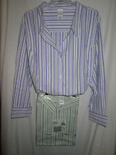 NWT Roaman's Blouses Tops Big Shirts Stripes Button Down Plus Sizes Nice
