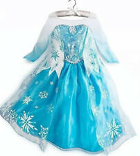 Disney Frozen Queen Elsa custome Party snow cosplay kids Girls Dress - MG