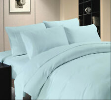 Hotel Collection 1000 TC Brand New Fitted & PillowCase Sky Blue Solid 100%Cotton
