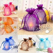FREE SHIP Sheer ORGANZA Wedding Favour GIFT BAGS Jewellery Pouches 16 Colours