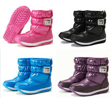 Children's boys and girls ski boots snow boots warm shoes free shipping