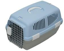 Travel Plastic Pet Carrier Basket For Dogs Puppies Cats Kittens Rabbits Cage