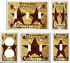 BARN STAR COUNTRY HOME DECOR LIGHT SWITCH OR OUTLET COVER V755
