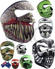 Neoprene FULL  Reversible Biker Skateboard Motor Bike Scary Sports Face Mask