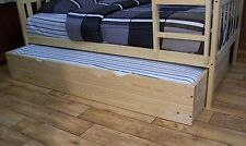 MISSION STYLE TWIN OR FULL TRUNDLE BED *5 Stain Options*  AMISH MADE in USA