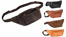 Genuine Leather Bum Bag Travel Money Mobile Waist Belt Pouch Holiday Hip Pack