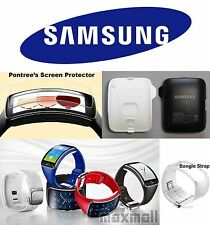 Genuine Samsung Gear S SM-R750 *Dock *Replacement Strap*Pontree Screen Protector
