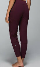 NWT Lululemon Om & Roam Untight Yoga Pant Shine Dot Bordeaux Drama 4 6 8 10 $118