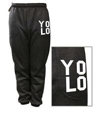 NEW MEN WOMEN PRINTED YOLO FUNNY FLEECE JOGGER DRAWSTRING SWEAT PANTS S ~ 5XL