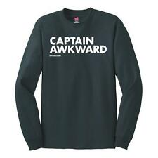 New CAPTAIN AWKWARD LONG SLEEVE T SHIRT NEW LICENSED DPCTED SHIRT