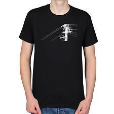 Electricity Pylon Power Wires Silhouette Urban City T-Shirt