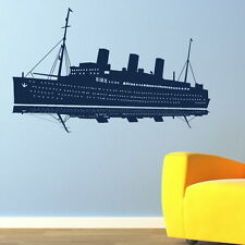 SAILING SHIP TITANIC BOAT WALL ART STICKER DECAL huge removable vinyl uk RA146