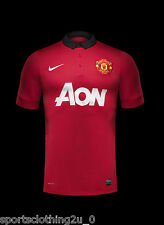 Manchester United 2013/14 Home Shirt Adults NAMES ON BACK  S,M ,L .      MU