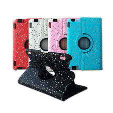 Fashion Crystal Leather 360 Rotating Cover Case for Amazon Kindle Fire HDX 7""