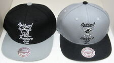 NFL Oakland Raiders Structured Snap Back Flat Bill Hat By Mitchell & Ness