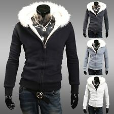 ❤XMAS ON SALE❤ Mens Military Furry Warm Hooded Coats Jackets COLLEGE BOY Jersey