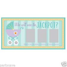 BABY SHOWER NAMING  PARTY SCRATCH AND WIN FUN GAME CARDS DECORATIONS 12 24 36