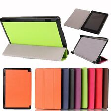 Tri Folding Slim Stylish Leather Case Cover For Amazon Fire HD6/7 (2014) Tablet