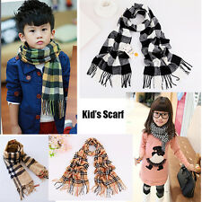 Cool Sale Winter Classic British style Fashion Plaid Kid's Boy's Girl's Scarf MF