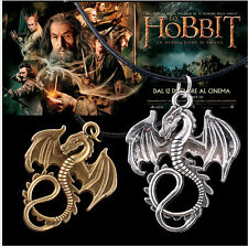 NEW The battle of the hobbit 2 Shi Mao leather Two color Fire dragon necklace