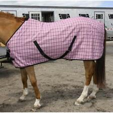 4718 Amazon Horse Pink & Black Plaid Baker Nylon Blend Sheet  NEW with TAGS!